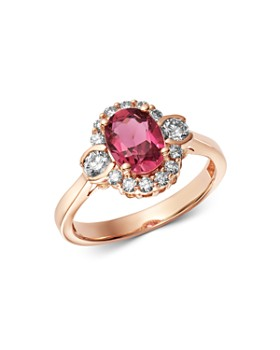 Bloomingdale's - Pink Tourmaline & Diamond Oval Ring in 14K Rose Gold - 100% Exclusive