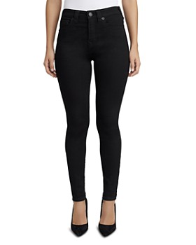 True Religion - Halle High Rise Jeans in Way Back Black