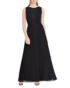 Ralph Lauren - Pleated Chiffon Gown