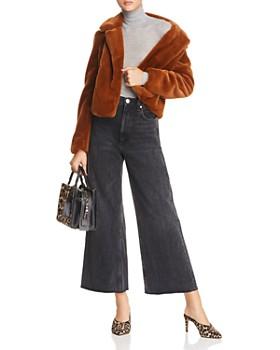 BLANKNYC - Cropped Faux-Fur Jacket