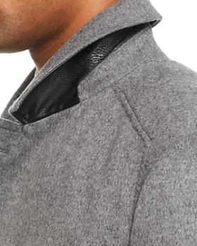 HUGO - Midais Car Coat w/ Faux Leather Undercollar
