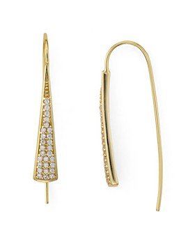 AQUA - Embellished Drop Earrings in 18K Gold-Plated Sterling Silver - 100% Exclusive