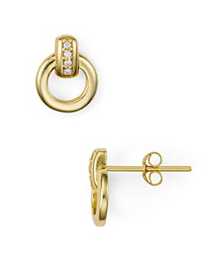 AQUA - Interlocking Circle Earrings in 18K Gold-Plated Sterling Silver or Sterling Silver - 100% Exclusive