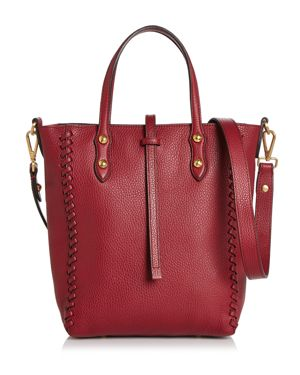 ANNABEL INGALL Ella Mini Whipstitch Tote in Barberry Red/Gold