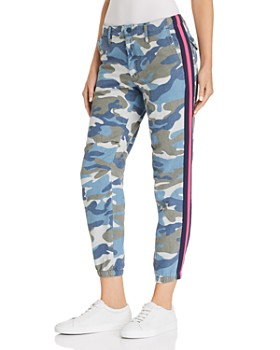 MOTHER - The Misfit Side-Stripe Camo Pants