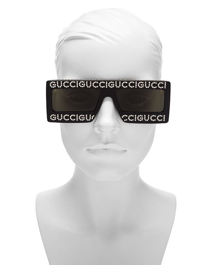 0bcce7e423 Gucci - Women s Swarovski Crystal-Embellished Oversized Rectangular  Sunglasses