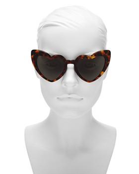 Saint Laurent - Women's Loulou Heart Sunglasses, 53mm