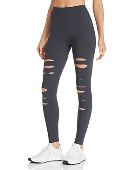 b17f2bee3efe1 Alo Yoga - High-Waist Ripped Warrior Leggings ...