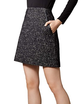 KAREN MILLEN - Tweed A-Line Skirt