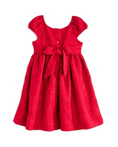 Pippa & Julie - Girls' Brocade Bow Dress - Little Kid