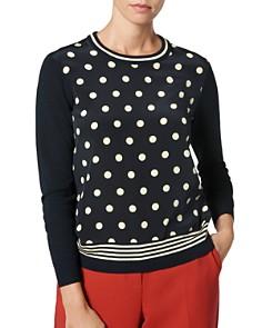L.K.Bennett - Cyrus Dot-Print Sweater