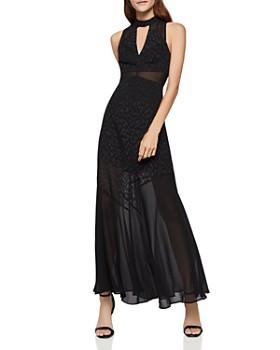 BCBGeneration - Leopard Jacquard Maxi Dress