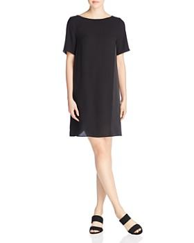 Eileen Fisher - Silk Short Sleeve Shift Dress