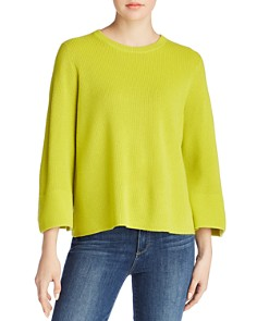 Eileen Fisher Petites - Merino Wool Bell Sleeve Sweater