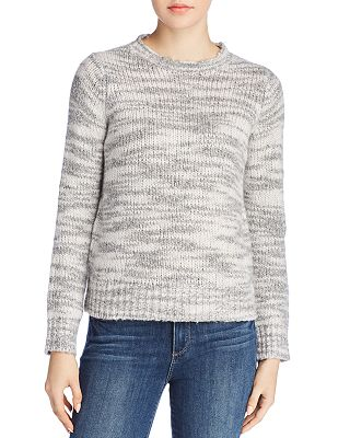 Petite Marled Wool & Silk Sweater