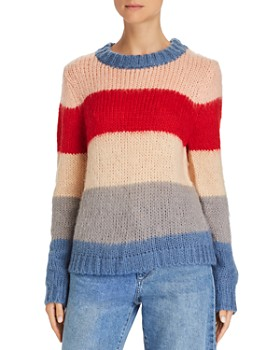 AQUA - Wide Stripe Crewneck Sweater - 100% Exclusive