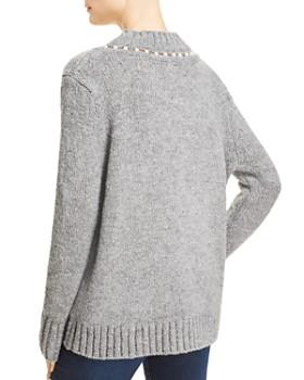 AQUA - Embellished V-Neck Sweater - 100% Exclusive