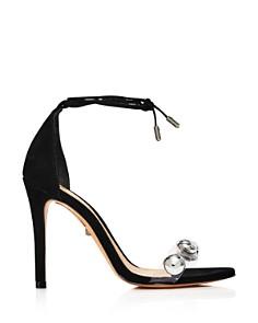 SCHUTZ -  Women's Ramon Ankle-Tie Suede High-Heel Sandals