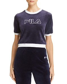 FILA - Emiliana Cropped Velour Logo Tee