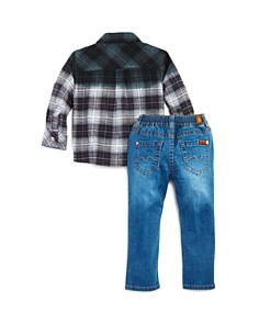 7 For All Mankind - Boys' Plaid Shirt & Jeans Set - Baby