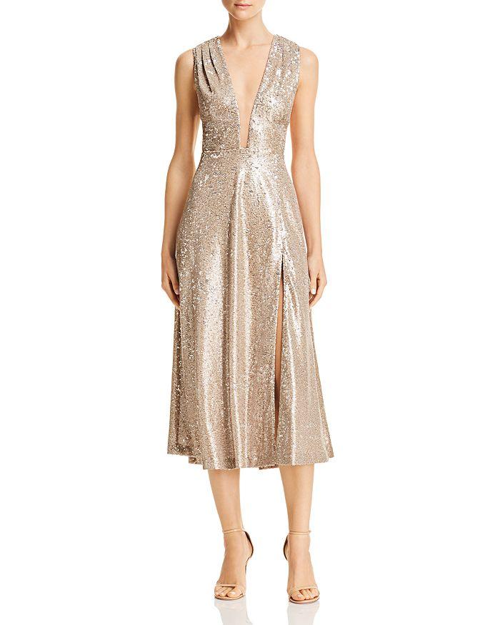 SAU LEE - Bianca Sequined Midi Dress