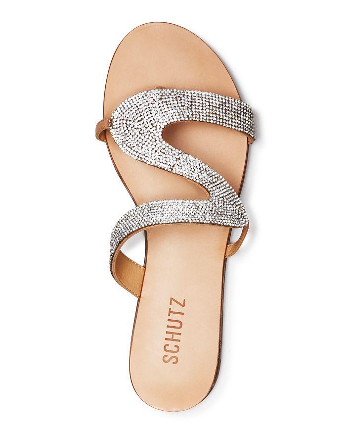 4c7de3c51917b8 SCHUTZ - Women s Noemi Crystal Flat Sandals