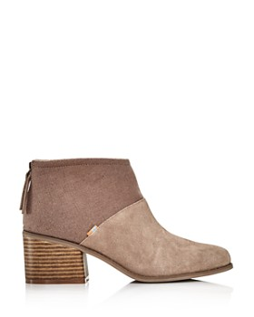 TOMS - Women's Lacy Round Toe Suede Bootie