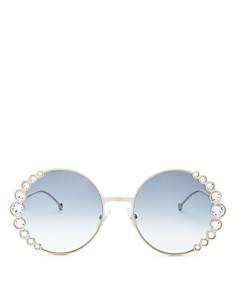 Fendi - Women's Round Sunglasses, 57mm