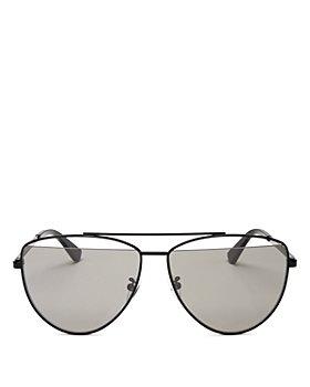 McQ Alexander McQueen - Women's Brow Bar Aviator Sunglasses, 61mm