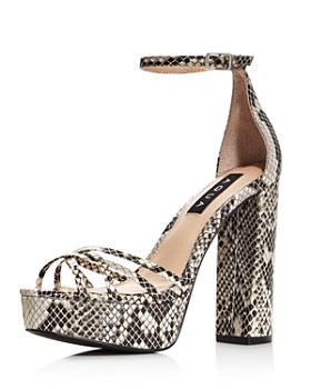 32cfe9948256 AQUA - Women s Milo Snake Print Platform Sandals - 100% Exclusive ...
