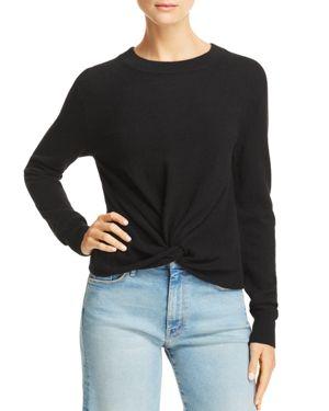 Aqua Twist-Front Cashmere Sweater - 100% Exclusive