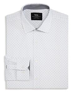 WRK - Dotted Slim Fit Dress Shirt