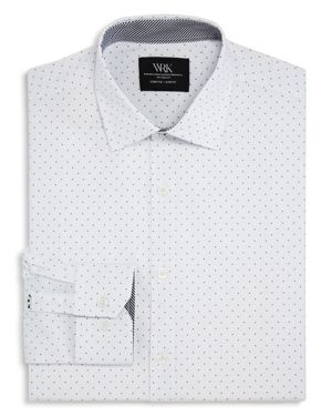 Wrk Dotted Slim Fit Dress Shirt