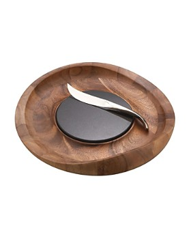 Nambé - Butterfly Cheese Tray with Knife by Nambé