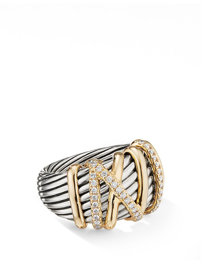 David Yurman - Helena Statement Ring with 18K Yellow Gold & Diamonds