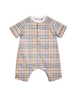 Burberry - Unisex Colton Check Playsuit - Baby