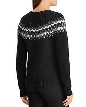Ralph Lauren - Beaded Fair Isle Sweater