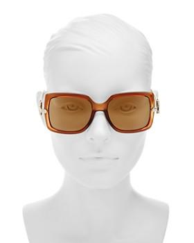 Salvatore Ferragamo - Cinder Cone Mirrored Brow Bar Aviator Sunglasses, 58mm