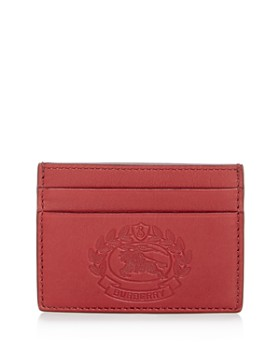 Burberry - Sandon Embossed Crest Leather Card Case