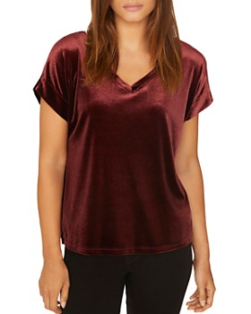 Sanctuary - Holly V-Neck Velour Tee