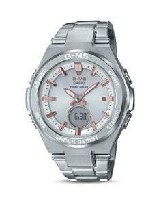 G-Shock - G-MS Silver-Tone Watch, 38.4mm