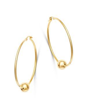 Bloomingdale's Bead Hoop Earrings in 14K Yellow Gold - 100% Exclusive