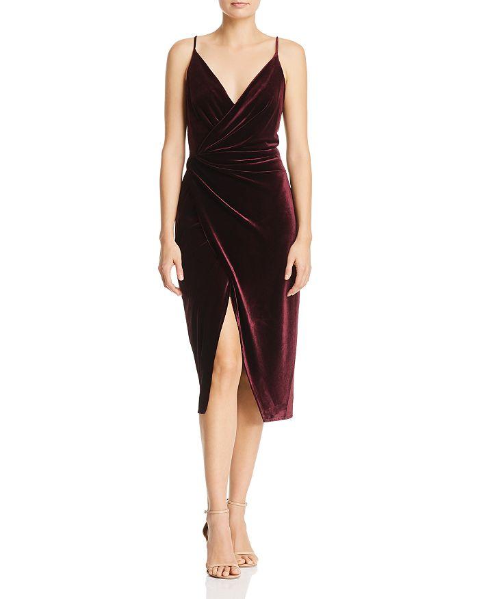 Betsey Johnson - Velvet Faux-Wrap Dress