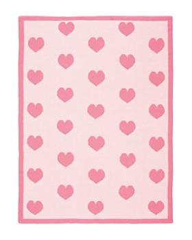 Elegant Baby - Girls' Heart-Print Blanket