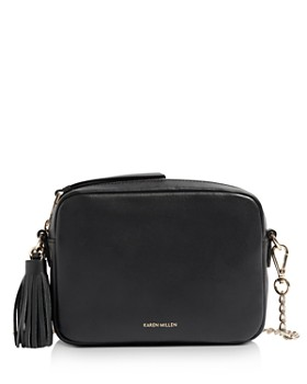 KAREN MILLEN - Small Tassel Leather Crossbody