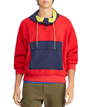 Polo Ralph Lauren Cottons HI TECH COLOR-BLOCK HOODED SWEATSHIRT