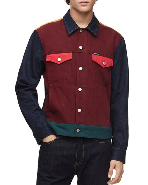 Calvin Klein Classic Colorblock Trucker Jacket
