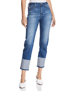 AG - Isabelle Straight Crop Jeans in 15 Years Finite