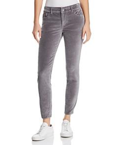 DL1961 - Florence Instasculpt Ankle Skinny Velvet Jeans in Silver Spring