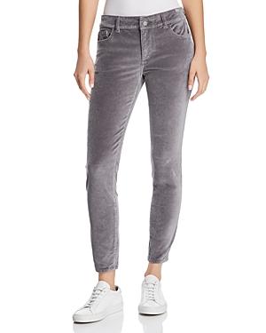 DL1961 Florence Instasculpt Ankle Skinny Velvet Jeans in Silver Spring